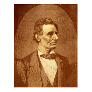Postal de la imagen de Abraham Lincoln del vintage