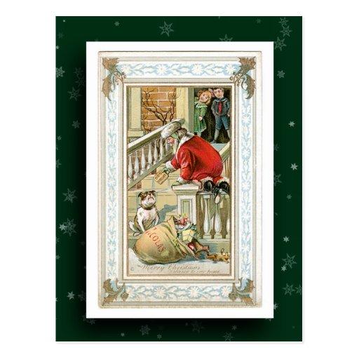 Postal de la imagen de Papá Noel del vintage