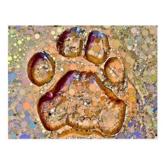 Postal de la impresión de la pata del tigre