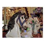 Postal de la impresión de los caballos del