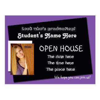 postal de la invitación de la casa abierta