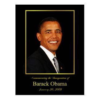 Postal de la invitación de la inauguración de Obam