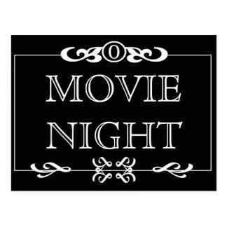 Postal de la invitación de la noche de película
