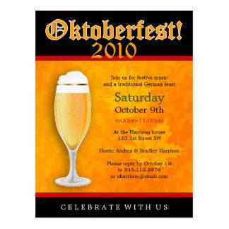 Postal de la invitación de Oktoberfest