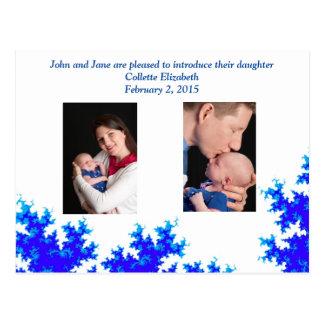 Postal de la invitación del bebé - verdad en azul
