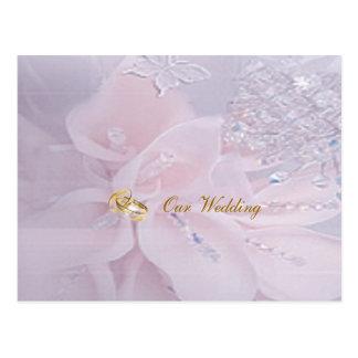 Postal de la invitación del boda de diamante