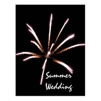 Postal de la invitación del boda del verano de los