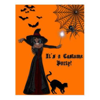 Postal de la invitación del fantasma de Halloween