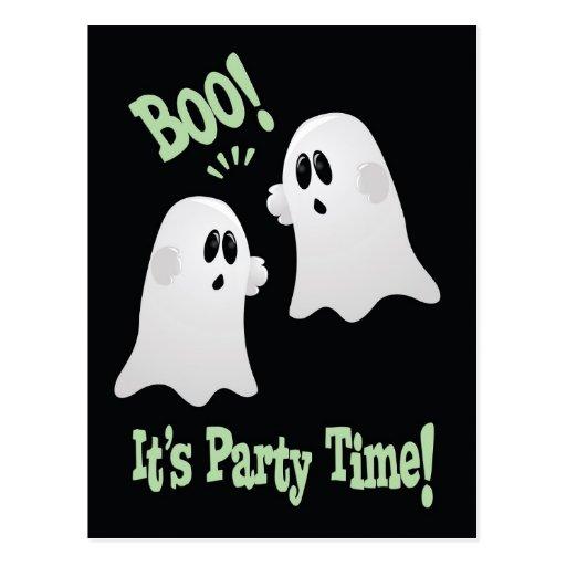 Postal de la invitación del fiesta del fantasma de