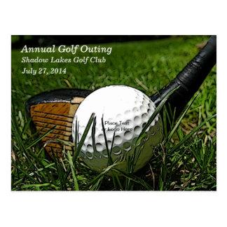 Postal de la invitación del golf 101