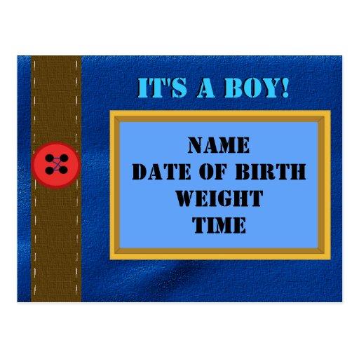 Postal de la invitación del nacimiento del dril de