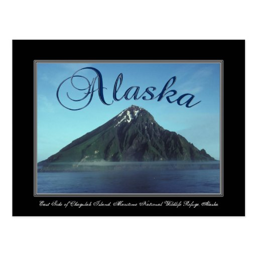 Postal de la isla de Alaska Chagulak
