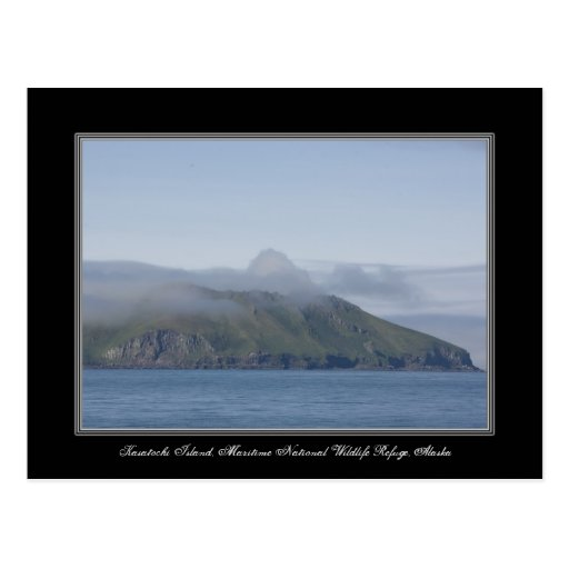 Postal de la isla de Alaska Kasatochi