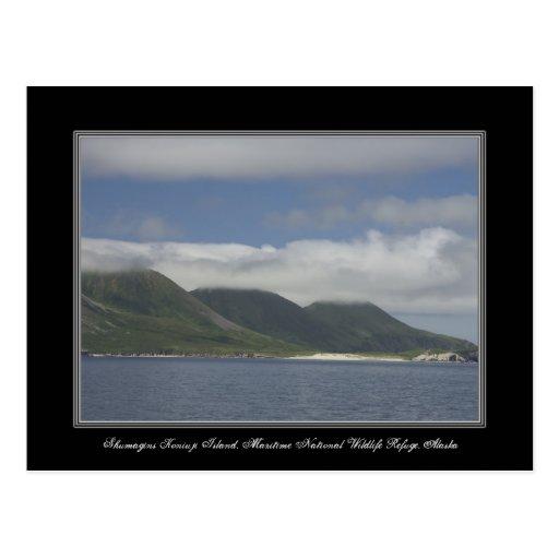 Postal de la isla de Alaska Shumagins Koniuji