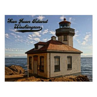 Postal de la isla de San Juan del faro, Washington