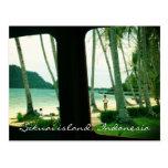 Postal de la isla de Sikuai