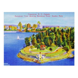 Postal de la isla de Vancouver del vintage