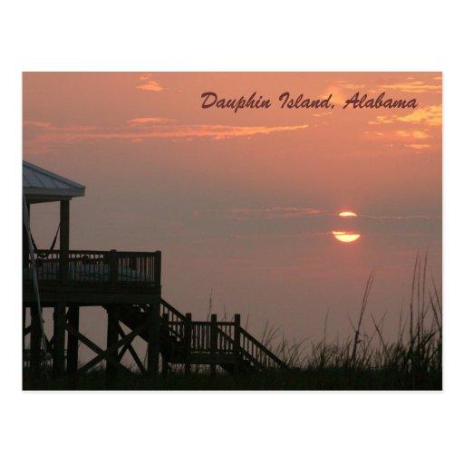 Postal de la isla del delfín, Alabama