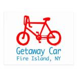 Postal de la isla del fuego de la bicicleta