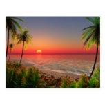 Postal de la isla del paraíso