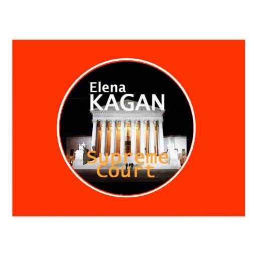 Postal de la justicia de Elena Kagan