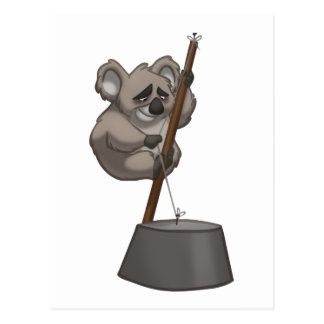 Postal de la koala del washtub-Playin
