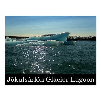 Postal de la laguna del glaciar de Jökulsárlón