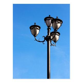 Postal de la lámpara de calle