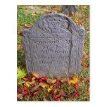 Postal de la lápida mortuaria de Benjmain