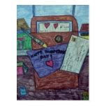 Postal de la letra de día de San Valentín