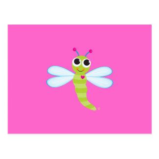 Postal de la libélula