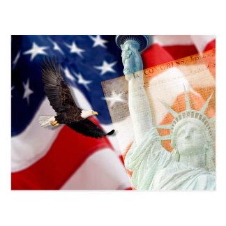 Postal de la libertad U para los patriotas