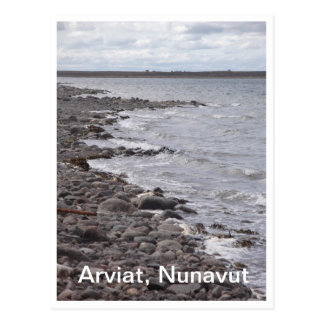 Postal de la línea de la playa de Arviat Nunavut