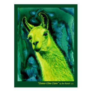 """Postal de la llama - """"llama de Llemon-Llime """""""