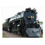 Postal de la locomotora de vapor