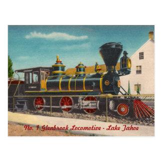 Postal de la locomotora del vintage
