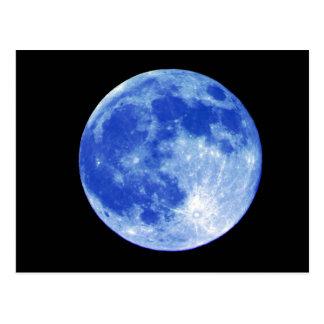 Postal de la luna azul