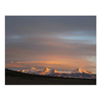Postal de la luz de la mañana del Mt. Lindsey