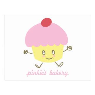 Postal de la magdalena de la panadería del meñique