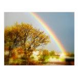 Postal de la magia del arco iris