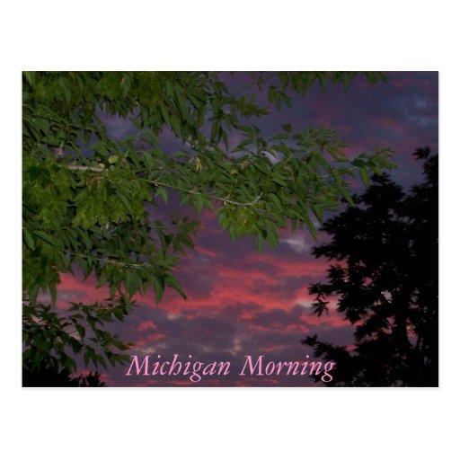 Postal de la mañana de Michigan