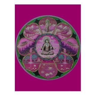 Postal de la mandala de Tara de la diosa