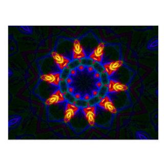 Postal de la mandala - mensaje de la Feliz Año Nue