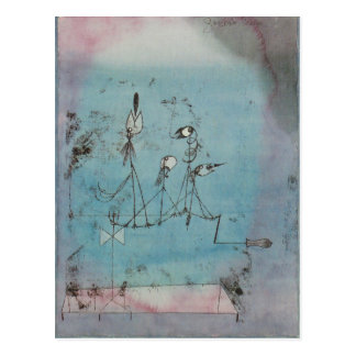 Postal de la máquina de Paul Klee Twittering