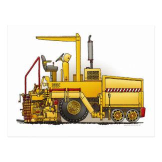 Postal de la máquina de pavimentación del asfalto