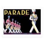 Postal de la marca del desfile