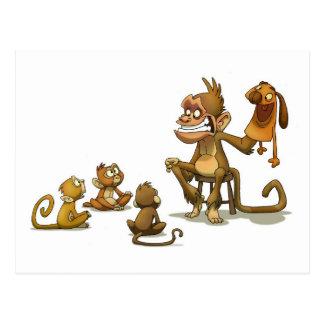 Postal de la marioneta del mono