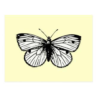Postal de la mariposa de Rapae del Pieris