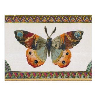 Postal de la mariposa del otoño