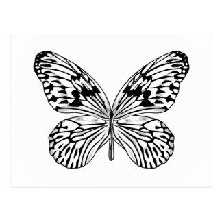 Postal de la mariposa del papel de arroz